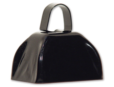 3 inch Black Cowbell