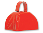 3 inch Red Cowbell