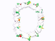 38 inch White Carnation Leis
