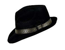 Black Mesh Fedora with Band