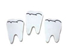 "2"" White Tooth Shape Erasers"