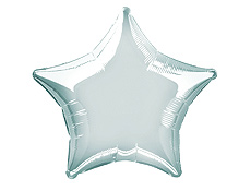 20 inch Silver Star Balloon
