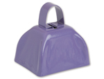 3 inch Purple Cowbell