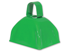 3 inch Green Cowbell