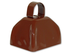 3 inch Brown Cowbell