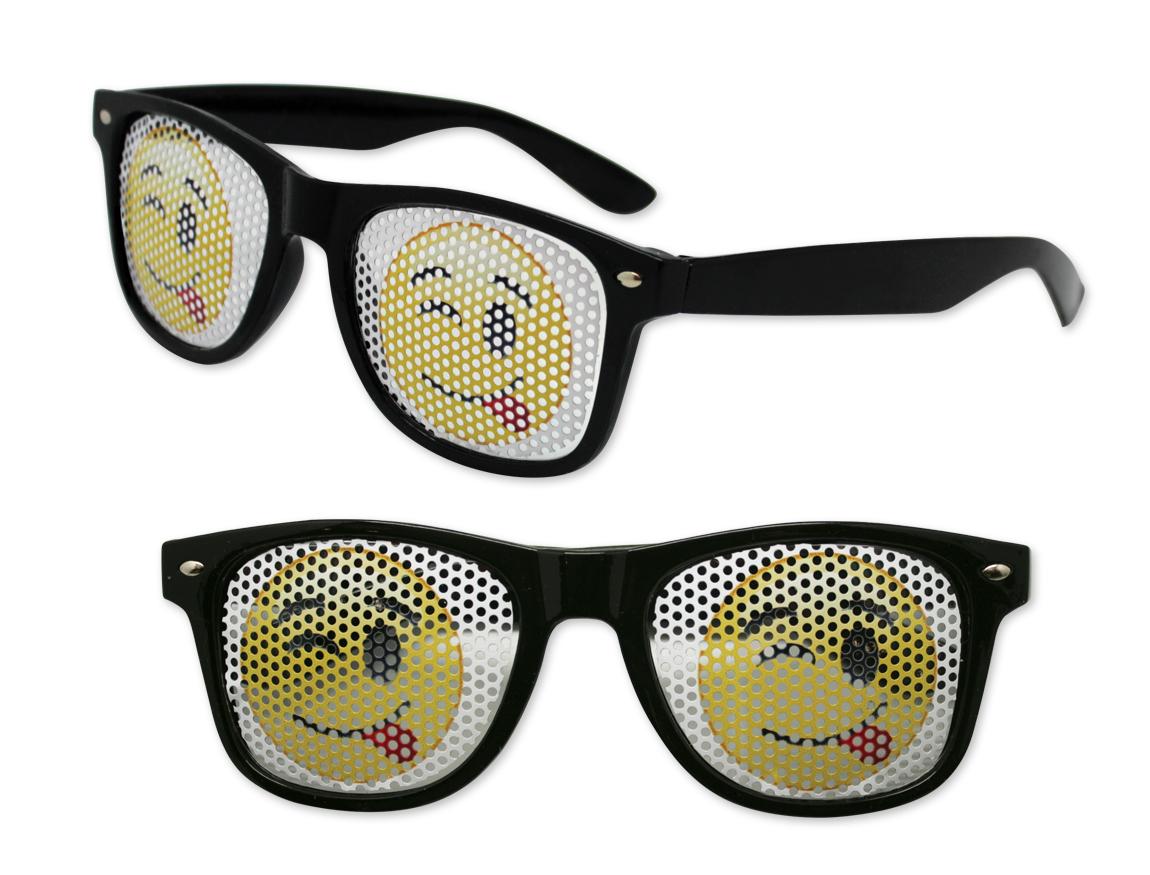 Emoji With Sunglasses  winky face emoji pinhole glasses