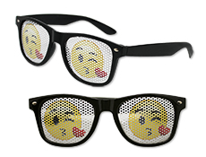 WP1308 - Kissy Face Emoji Pinhole Glasses