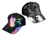 Rainbow Reversable Sequin Baseball Cap