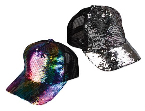 21288a838 WP1455 - Rainbow Reversible Sequin Baseball Cap