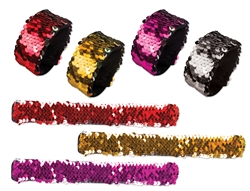 Reversable Sequin Slap Bracelet
