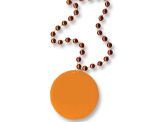 33 inch Orange Medallion with Beads