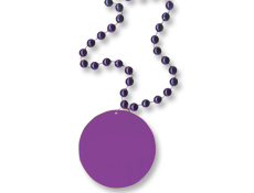 33 inch Purple Medallion with Beads