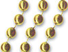 Gold 33 inch Beads