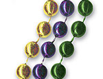 33 inch Purple/Green/Gold Mardi Gras Beads