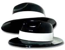 Black Gangster Hats