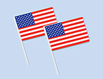 4 inchx 6 inch American Flags